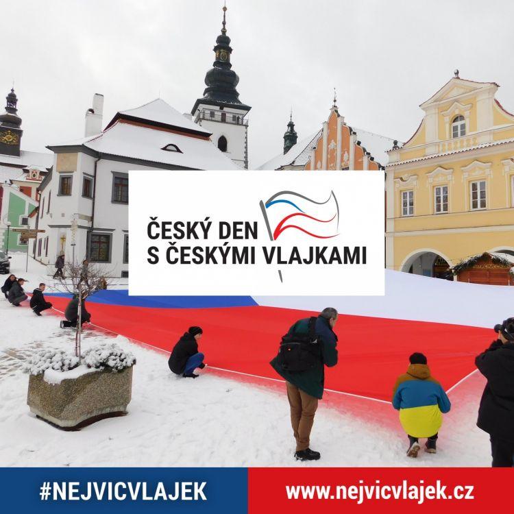 Český den sčeskými vlajkami